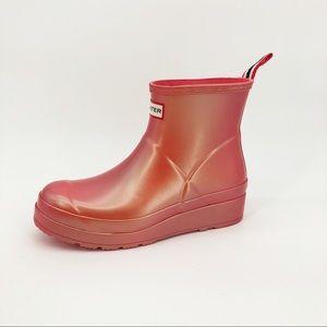 Hunter Original Short Nebula Play Rain Boots Pink